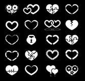 Sistema del icono del corazón Imagen de archivo libre de regalías