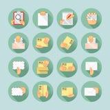 Sistema del icono del correo y de la entrega Imagen de archivo libre de regalías