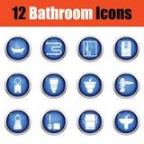 Sistema del icono del cuarto de baño Fotografía de archivo
