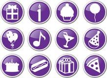 sistema del icono del cumpleaños Foto de archivo