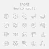 Sistema del icono del deporte Fotografía de archivo libre de regalías