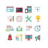 Sistema del icono del desarrollo web Imágenes de archivo libres de regalías