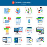 Sistema del icono del desarrollo web ilustración del vector