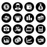 Sistema del icono del dinero stock de ilustración