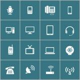 Sistema del icono del dispositivo de comunicación, vector eps10 libre illustration