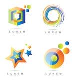 Sistema del icono del elemento de Corporate Logo Imagenes de archivo