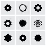 Sistema del icono del engranaje del vector Imagen de archivo libre de regalías