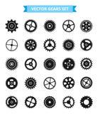 Sistema del icono del engranaje engranajes - ejemplo Fotografía de archivo libre de regalías