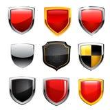 Sistema del icono del escudo. Vector Imagen de archivo