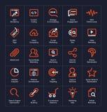 Sistema del icono del esquema Foto de archivo libre de regalías