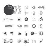 Sistema del icono del Fórmula 1 libre illustration