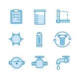 Sistema del icono del filtro de agua Fotos de archivo