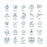 Sistema del icono del género de la película Imagen de archivo