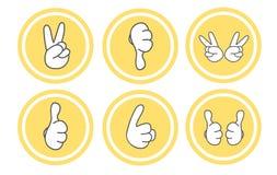 Sistema del icono del gesto Imagen de archivo libre de regalías