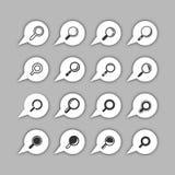 Sistema del icono del hallazgo Imagenes de archivo