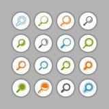 Sistema del icono del hallazgo Fotos de archivo
