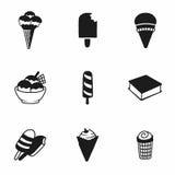 Sistema del icono del helado del vector Fotografía de archivo libre de regalías