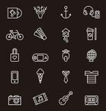 Sistema del icono del inconformista Imagen de archivo libre de regalías