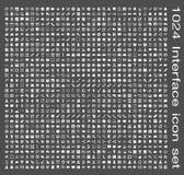 Sistema del icono del interfaz Imagen de archivo libre de regalías