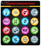 Sistema del icono del krishna de las liebres libre illustration