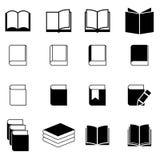 Sistema del icono del libro foto de archivo