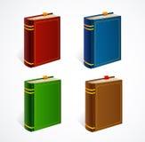 Sistema del icono del libro viejo del vector Fotografía de archivo libre de regalías