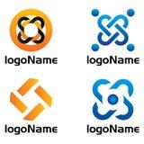 Sistema del icono del logotipo Fotos de archivo libres de regalías