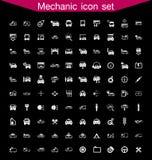 Sistema del icono del mecánico Imágenes de archivo libres de regalías