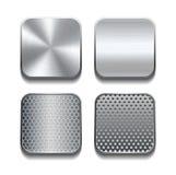Sistema del icono del metal de Apps. Foto de archivo libre de regalías