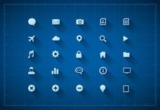 Sistema del icono del modelo Fotos de archivo libres de regalías
