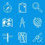 Sistema del icono del modelo nearsighted stock de ilustración