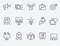Sistema del icono del márketing Foto de archivo libre de regalías