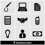 Sistema del icono del negocio Imágenes de archivo libres de regalías