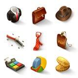 Sistema del icono del negocio Imagen de archivo