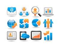 Sistema del icono del negocio ilustración del vector