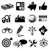 Sistema del icono del negocio Imagenes de archivo