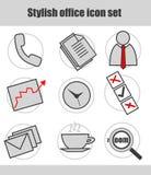 Sistema del icono del negocio Fotos de archivo libres de regalías