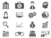 Sistema del icono del negocio Imagen de archivo libre de regalías