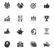 Sistema del icono del negocio Fotografía de archivo libre de regalías