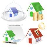 sistema del icono del negocio de 3D Real Estate ilustración del vector