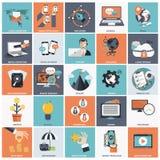Sistema del icono del negocio y de la gestión Imagenes de archivo
