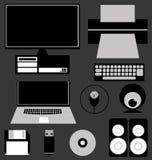Sistema del icono del ordenador Imágenes de archivo libres de regalías