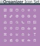 Sistema del icono del organizador Imagen de archivo