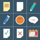 Sistema del icono del organizador Imagen de archivo libre de regalías