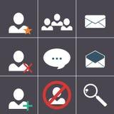 Sistema del icono del organizador Fotos de archivo