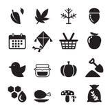Sistema del icono del otoño Fotos de archivo libres de regalías