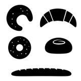 Sistema del icono del pan del vector Imagen de archivo