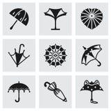 Sistema del icono del paraguas del vector Foto de archivo