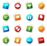 Sistema del icono del partido Fotografía de archivo libre de regalías