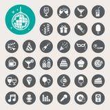 Sistema del icono del partido y de la celebración. Imagenes de archivo